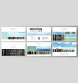 templates in hd format for presentation slides vector image vector image