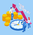 time is money isometric concept business vector image