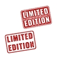 Two realistic Limited Edition rubber stamps vector image vector image