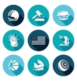 United States Icons Set vector image vector image