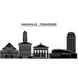 usa nashville tennessee architecture vector image vector image
