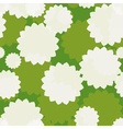 White Flowers Seamless vector image vector image
