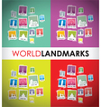 world landmarks group vector image