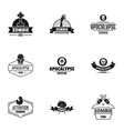zoombie logo set simple style vector image