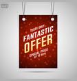 fantastic offer sale background vector image