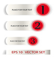 Set of Sample stickers for various options vector image