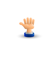 Arm Business hand Palm up 3D icon Flat vector image
