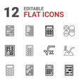 12 calculator icons vector image vector image