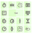 14 time icons vector image vector image