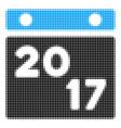 2017 calendar page halftone icon vector image