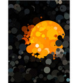 Abstract black dot pattern and orange circle vector image vector image