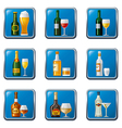 alcohol drinks icon set buttons vector image