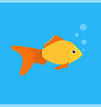 aquarium goldfish icon flat style vector image vector image