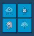 aritificial intelligence design vector image vector image