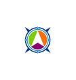 arrow navigation direction logo vector image vector image