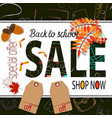 back to school sale poster and banner with school vector image vector image