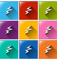 Battery charging icons vector image vector image