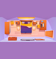 bedroom interior set top view vector image