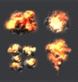 bomb explosion fire realistic explosion effect vector image vector image