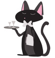 cat waiter vector image vector image