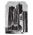 cathedral of bourges flying buttresses vintage vector image vector image