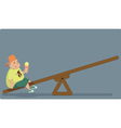 Childhood obesity vector image