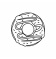 Chocolate donut icon outline style vector image vector image
