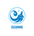 cleaning service - business logo template vector image