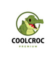 crocodile thumb up mascot character logo icon vector image vector image