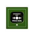 device emergency exit vector image vector image