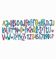 doodle simple kids alphabet vector image vector image