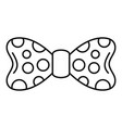 dot bow tie icon outline style vector image vector image