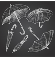 Drawing set of umbrellas vector image vector image
