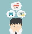 dreams a businessman vector image