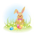 easter rabbit Converted vector image vector image