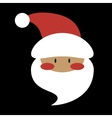 Flat Design Santa Claus Face Icon vector image