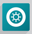 flat ship wheel icon vector image