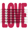 Folded Love Word vector image vector image