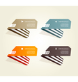 Four colored paper notes vector image vector image
