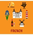 France cultural and historical symbols vector image