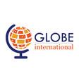 globe international logo vector image vector image