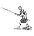 hand drawn fantasy or ancient warrior in armor vector image