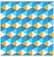 Hexagon blue with orange geometrical pattern vector image vector image