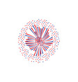 holiday firework rays or firecracker lights flat vector image