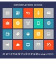 Information icon set Multicolored square flat vector image vector image