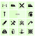 iron icons vector image vector image