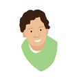 isolated cute man avatar vector image vector image