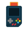 Isolated videogame device design vector image vector image