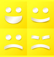 joyful and evil smiles in paper style vector image