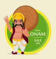 king mahabali happy onam festival in kerala vector image vector image